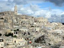 Sassi二马泰拉,南的意大利 免版税库存图片
