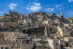 Sassi de Matera Basilicata Imagenes de archivo