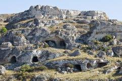 Sassi de Matera. Basilicata. Italia. Fotos de archivo libres de regalías