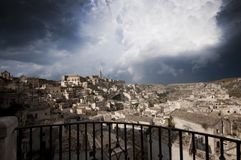 Ancient town in Matera Italy Royalty Free Stock Image