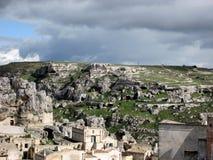 Sassi di Matera, het zuiden van Italië Stock Fotografie