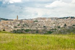 Sassi di Matera historical centre Sasso Caveoso, Basilicata, Italy royalty free stock image