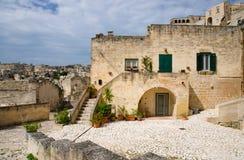 Sassi di Matera historical centre Sasso Caveoso, Basilicata, Ita stock photography