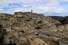 Sassi di Matera Italien, europeisk huvudstad av kultur 2019 royaltyfria foton