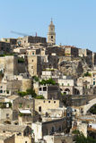 Sassi di Matera - Italy. The Sassi di Matera are ancient cave dwellings in the Italian city of Matera, Basilicata. Situated in the old town, they are composed of Royalty Free Stock Photography