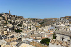 Sassi di Matera - Italy. The Sassi di Matera are ancient cave dwellings in the Italian city of Matera, Basilicata. Situated in the old town, they are composed of Royalty Free Stock Images