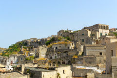Sassi di Matera - Italy. The Sassi di Matera are ancient cave dwellings in the Italian city of Matera, Basilicata. Situated in the old town, they are composed of Stock Photography