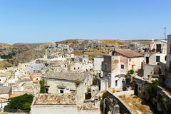 Sassi di Matera - Italy. The Sassi di Matera are ancient cave dwellings in the Italian city of Matera, Basilicata. Situated in the old town, they are composed of Stock Photos