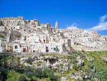 Sassi di Matera. La Basilicata. Immagini Stock Libere da Diritti