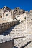 Sassi di Matera. La Basilicata. L'Italia. Immagine Stock
