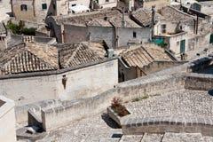Sassi di Matera pejzaż miejski Zdjęcie Stock