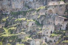 Sassi en Matera Fotos de archivo libres de regalías