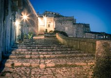 Sassi,historic center of the city Matera in Italy Stock Image