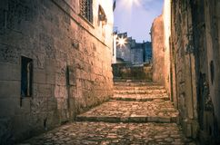 Sassi,historic center of the city Matera in Italy Royalty Free Stock Photo
