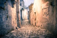 Sassi,historic center of the city Matera in Italy Royalty Free Stock Image