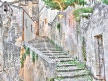 Sassi le centre historique de la ville Matera en capitale européenne de l'UNESCO de l'Italie de la culture 2019 Image stock