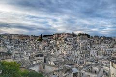 Sassi Matera, Италии Стоковые Изображения
