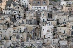 Sassi Matera, Италии Стоковое Изображение