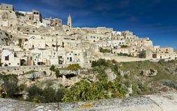 Sassi of Matera-4. Sassi houses of Matera  Basilicata, Italy Royalty Free Stock Photos