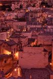 The Sassi of Matera, Italy. The Sassi of Matera. It was a troglodyte township in southern Italy. It is a UNESCO World Heritage site and going to be one of royalty free stock photography