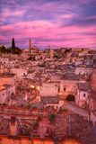 The Sassi of Matera, Italy. The Sassi of Matera. It was a troglodyte township in southern Italy. It is a UNESCO World Heritage site and going to be one of royalty free stock photos