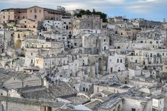 The Sassi of Matera, Italy. The Sassi of Matera. It was a troglodyte township in southern Italy. It is a UNESCO World Heritage site and going to be one of stock photography