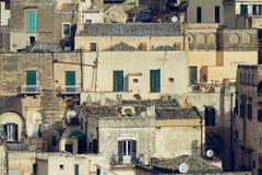 Sassi van Matera stock afbeelding
