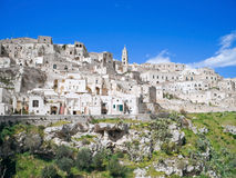 Sassi van Matera. Basilicata. Royalty-vrije Stock Afbeeldingen