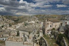 Sassi van Matera, Zuid-Italië. Stock Foto's