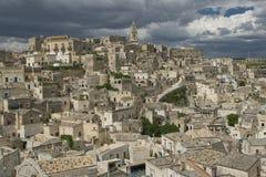 Sassi van Matera, Zuid-Italië. Royalty-vrije Stock Fotografie