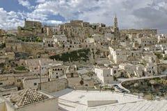 Sassi van Matera, Zuid-Italië. Stock Foto
