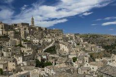 Sassi van Matera, Zuid-Italië. Royalty-vrije Stock Foto's