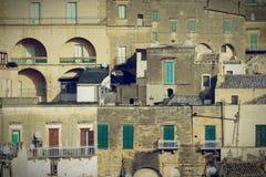 Sassi von Matera Stockfotografie