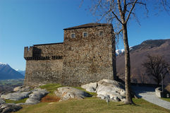 Sasso Corbaro castle Stock Photos