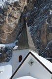 Sasso della Croce - Ospizio Santa Croce - Chiesa Santa Croce under Sasso della Croce Group in the Italian Dolomites, Trentino, Ita Royalty Free Stock Image