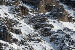 Sasso della Croce in Winter season Dolomites, Val Badia, Trentino - Alto Adige, Italy Royalty Free Stock Photos
