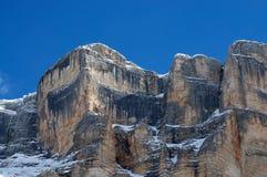 Sasso della Croce in Winter season Dolomites, Val Badia, Trentino - Alto Adige, Italy Stock Image