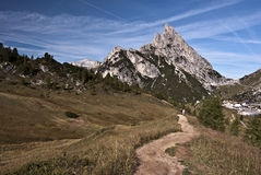 Sasso di Stria peak Stock Photo