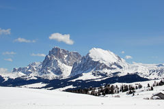 Sasso Lungo, Sasso Piatto, Seiser Alm, Dolomites, South Tyrol, Italy Royalty Free Stock Images
