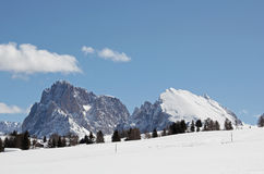 Sasso Lungo, Sasso Piatto, Seiser Alm, Dolomites, South Tyrol, Italy Stock Photography