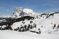 Sasso Lungo, Sasso Piatto, Seiser Alm, Dolomites, South Tyrol, Italy Royalty Free Stock Photo