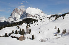 Sasso Lungo, Sasso Piatto, Seiser Alm, Dolomites, South Tyrol, Italy Stock Photo