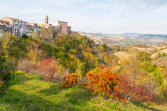 Sassocorvaro and the Marches Hills in Italy Stock Images