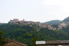 Sassocorvaro (Montefeltro,Italy) - Town on the. Sassocorvaro (Montefeltro, Urbino, Marches, Italy) - Town on the hill stock photos