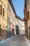 Sassoferrato (marzo, Italia) Fotografia Stock