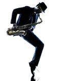 Sassofonista dell'uomo che gioca il giocatore di sassofono fotografia stock
