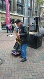 Sassofonista Nottingham fotografie stock