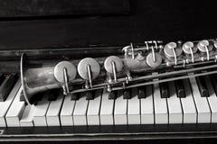 Sassofono del soprano Fotografia Stock