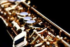Sassofono del soprano Fotografie Stock