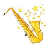 Sassofono dell'oro Immagini Stock Libere da Diritti